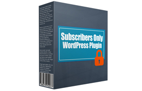 Subscribers Only WordPress Plugin