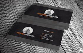 High Tower Construction Business Card PSD Template