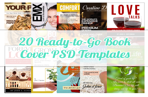 20 Ready-to-Go Book Cover PSD Templates