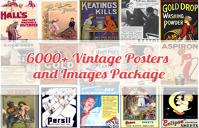 6000+ Vintage Posters and Images Package