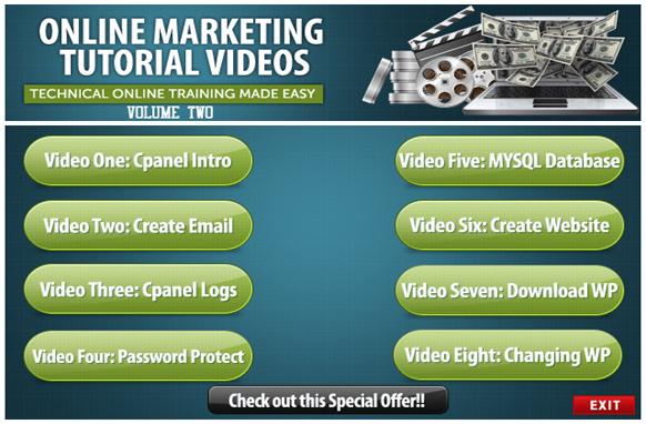Online Marketing Tutorial Videos Volume 2