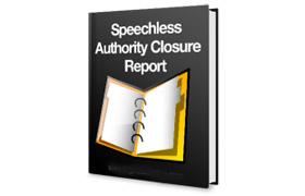 Speechless Authority Closure Report