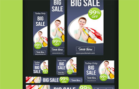 Nice PSD Banner Ads Set Edition 3