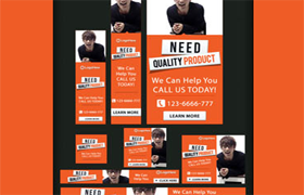 Nice PSD Banner Ads Set Edition 4