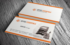 Office Essentials Business Card PSD Template