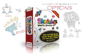 Sketchy Whiteboard Vectors Set