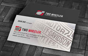 Two Wheeler Business Card PSD Template