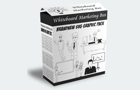 Whiteboard Marketing Box - Brand New SVG Graphic Pack