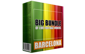 Big Bundle of Live Footage Videos Barcelona