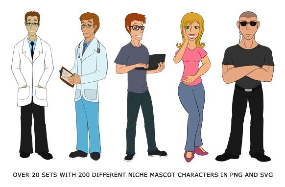 Big Bundle of Mascot Cartoon Characters