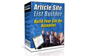 Article Site List Builder