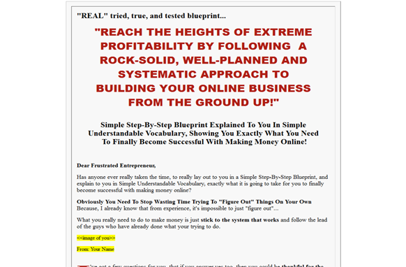 Easy sales blueprint plr database products description malvernweather Image collections
