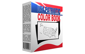 USA Patriotic Color Book