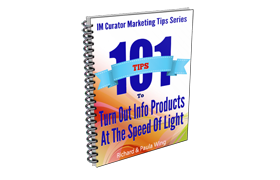 101 Tips To Turn Out Info Products At The Speed Of Light