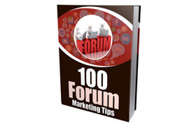 100 Forums Marketing Tips