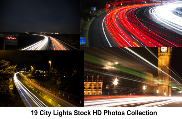 19 City Lights Stock HD Photos Collection
