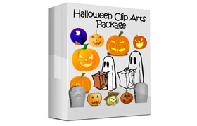 Halloween Clip Arts Package
