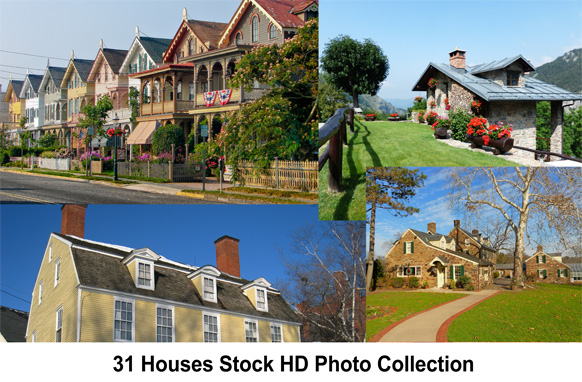 31 Houses Stock HD Photo Collection