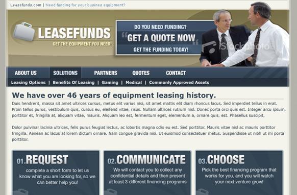 Loan Niche Premium PSD Website Template