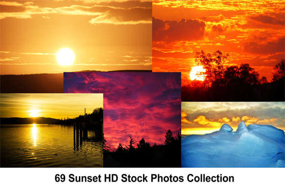 69 Sunset HD Stock Photos Collection