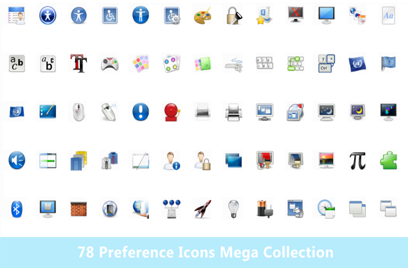78 Preference Icons Mega Collection