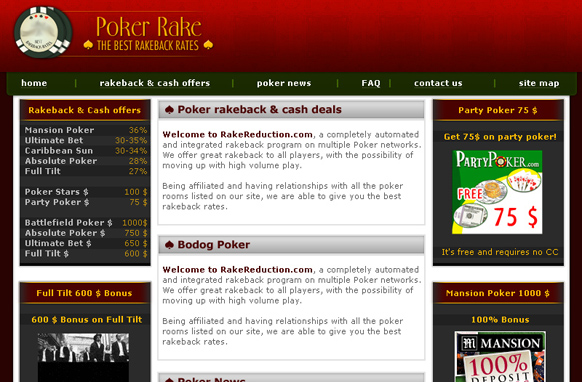 Poker Niche Premium PSD Website Template