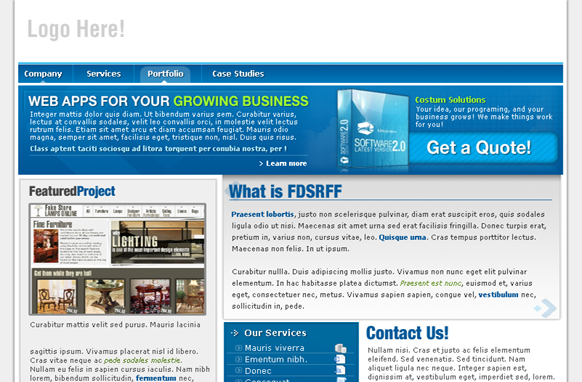 Software Niche Premium PSD Website Template