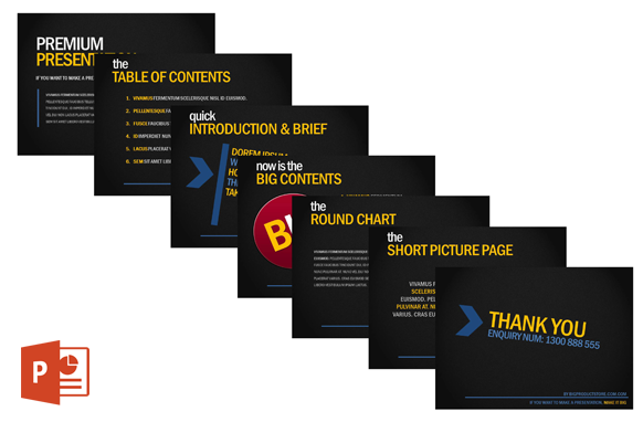 Premium Power Point Templates Edition 1
