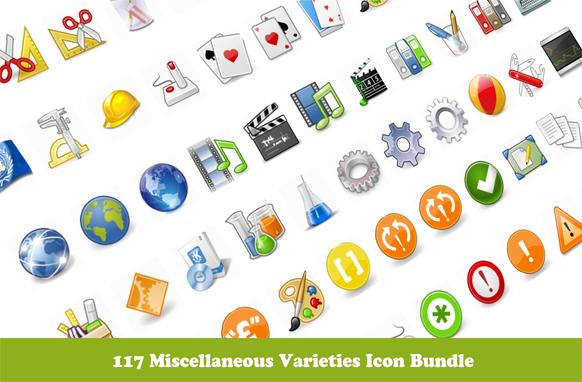 117 Miscellaneous Varieties Icon Bundle