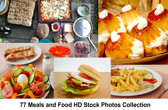 77 Meals and Food HD Stock Photos Collection