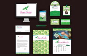 Flower Garden Print Design Template