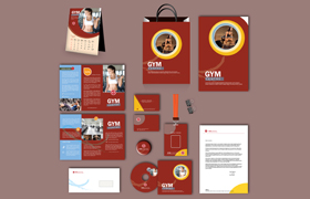 Gym Print Design Template