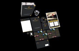 Running Way Print Design Template
