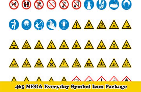 465 MEGA Everyday Symbol Icon Package