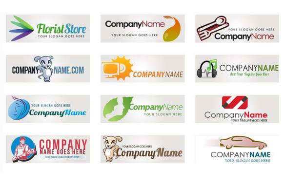 12 PSD PNG Logo Templates