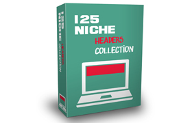 125 Niche Headers Collection