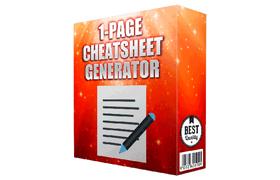 1 Page Cheatsheet Generator