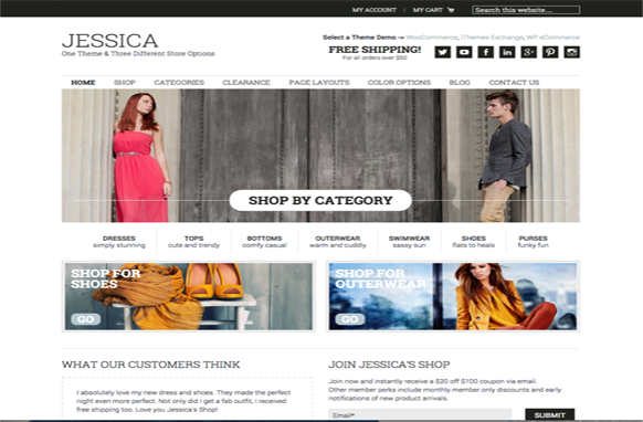 Jessica Pro Genesis Framework WordPress Theme