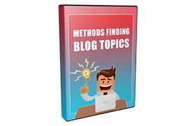 Methods Finding Blog Topics