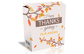 Happy Thanksgiving PLR Articles
