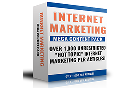 Internet Marketing Mega Content Pack
