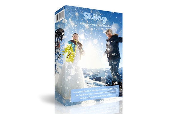 Skiing Mobile Video Site Builder