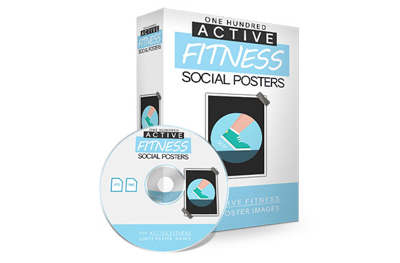 Active Fitness Social Poster Images Package