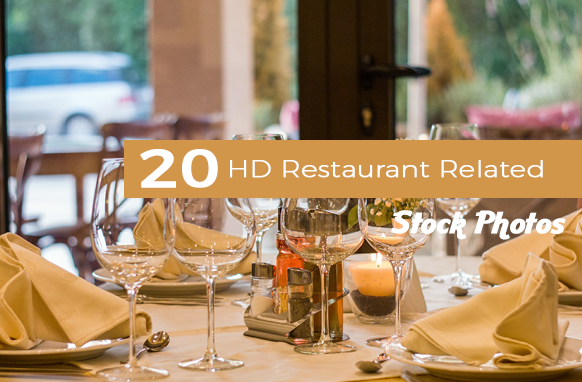 20 HD Restaurant Related Stock Photos