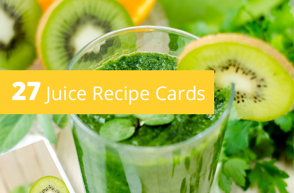 27 Juice Recipe Cards