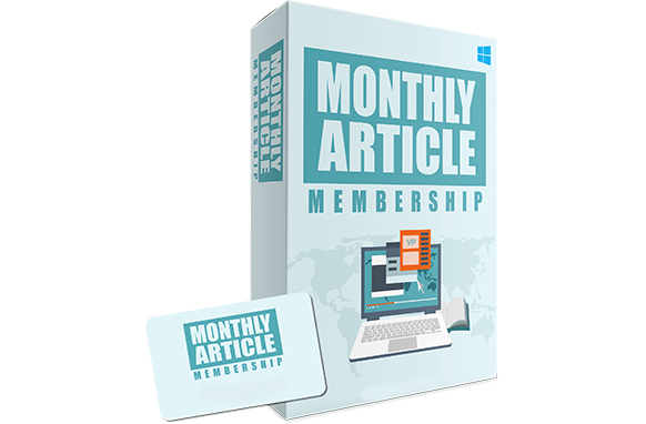 Monthly Article Membership