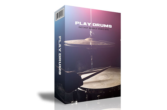 Play Drums Instant Mobile Video Site