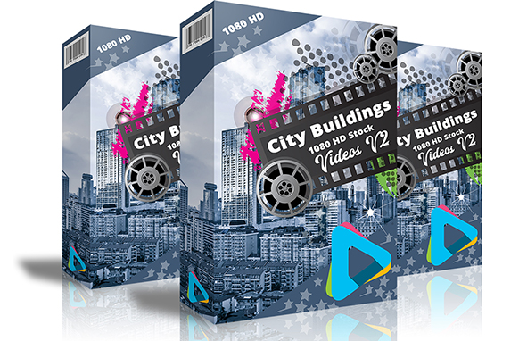 City Buildings HD 1080 Stock Videos V2