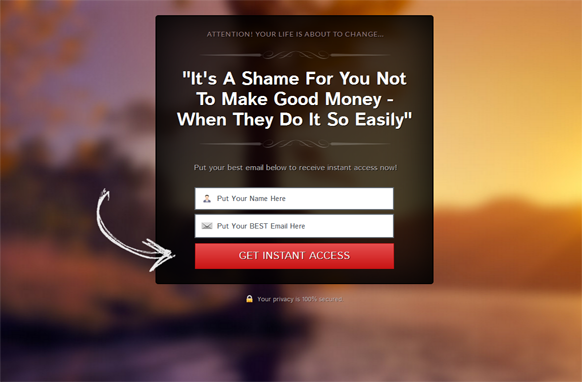 Red Style Responsive HTML Mobile Squeeze Page Edition 7