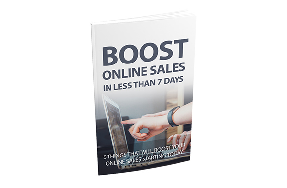 Boost Online Sales In Less Than 7 Days